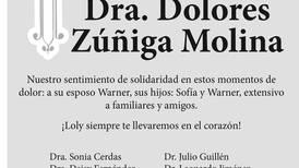 Dra. Dolores Zúñiga Molina