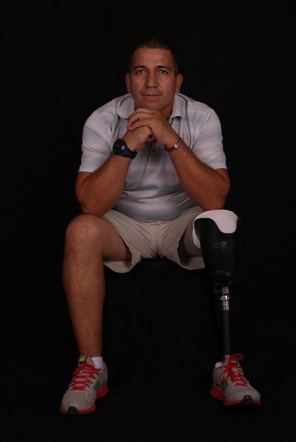 El accidente responsable de la amputación de la pierna de Wenceslao García se dio el 20 de enero del 2015. Un auto invadió su carril mientras él conducía su motocicleta.