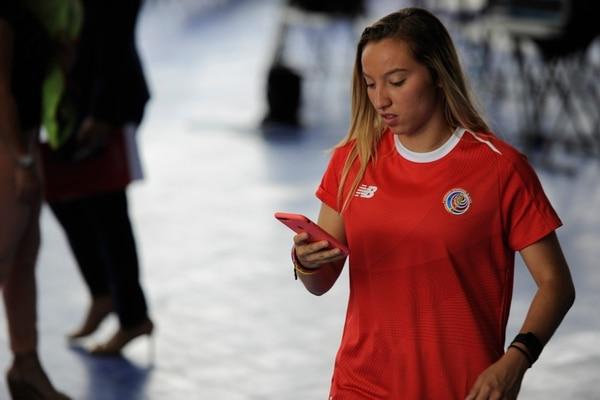 La futbolista Gloriana Villalobos es una de las figuras de la Selección Nacional Femenina. Ella debutó en el equipo Mayor desde los 15 años. Fotografía : Cristina Solís