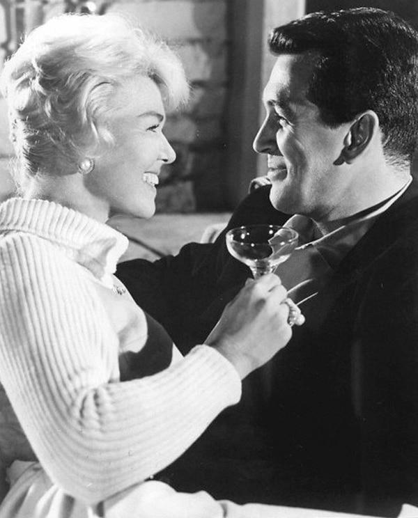 Doris Day y su colega, el actor Rock Hudson, protagonizaron gran cantidad de películas en la década de los sesenta. La prensa rosa intentó ligarlos sentimentalmente en algún momento.   ARCHIVO