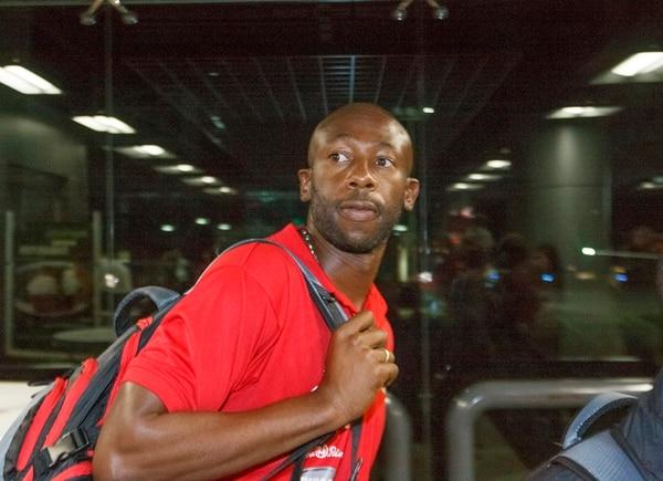 Paulo Wanchope en su llegada al país el pasado lunes. | JORGE ARCE