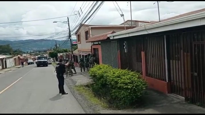 La aparente líder de la organización cayó en esta casa en Taras de San Nicolás, Cartago. Foto: OIJ.