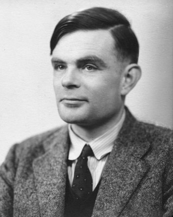 Fotografía de Alan Turing.
