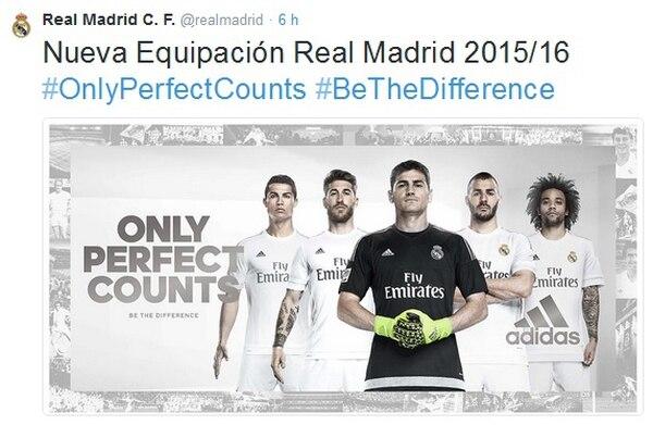 El Real Madrid mostró su nueva camiseta.