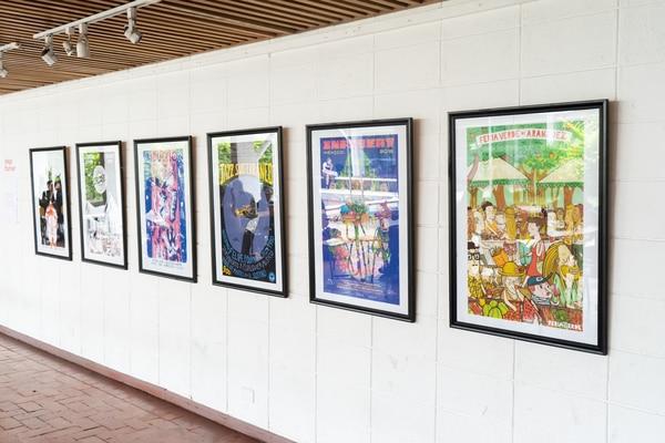 Algunos de los carteles más icónicos de Fournier son parte de la muestra Foto: cortesía Adriana Mora