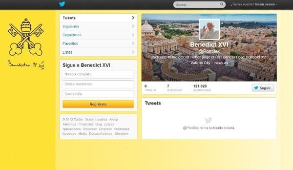 El Papa envió su primer tuit el año pasado desde la cuenta del Vaticano.