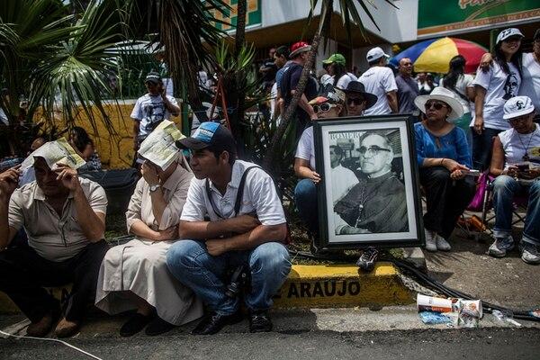 La Iglesia salvadoreña estimó en 700.000 el número de asistentes a la beatificación de Óscar Romero. | FOTO: AFP.