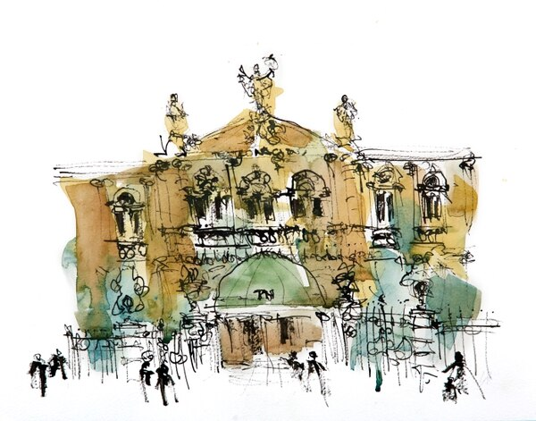 Representación del Teatro Nacional, a cargo de Daniel Campos Tioli.
