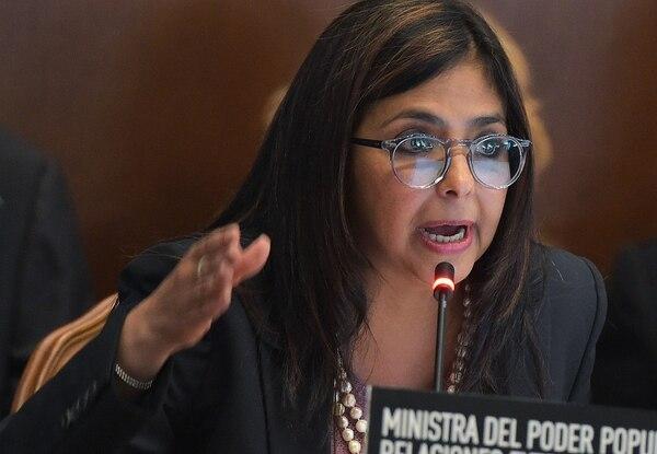 Delcy Rodríguez, canciller de Venezuela:
