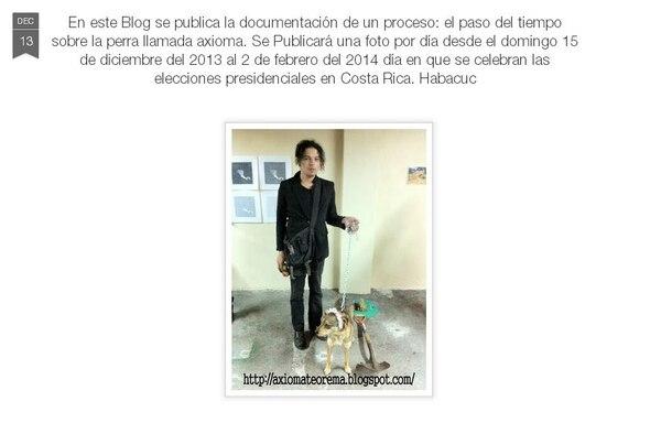 Captura de pantalla del blog axiomateorema.blogspot.com, firmado por Habacuc.