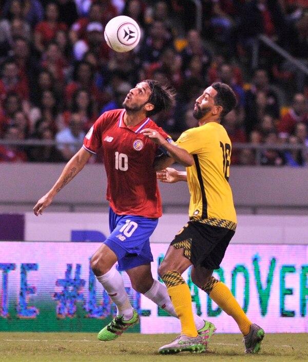 Bryan Ruiz lució aplicado y su gol dio tranquilidad. | JOSÉ CORDERO