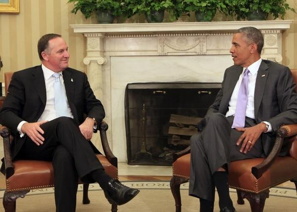 El viernes pasado, el presidente de Estados Unidos, Barack Obama, se reunió con el primer ministro de Nueva Zelanda, John Key (izquierda). | EFE