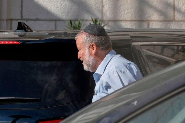 El fiscal general israelí, Avichai Mandelblit, llegaba al Ministerio de Justicia, en Jerusalén, este miércoles 2 de octubre del 2019.