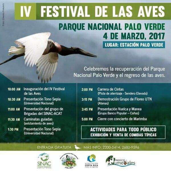Programa de actividades del IV Festival de las Aves