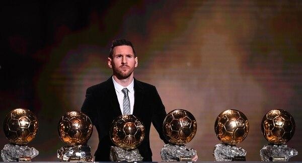 Lionel Messi ganó este lunes su sexto Balón de Oro. Fotografía: AFP