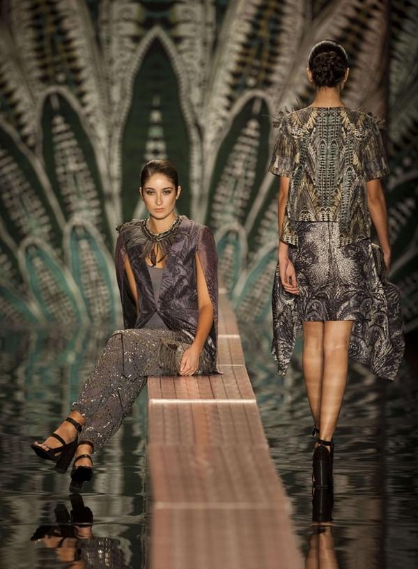 Beatriz Camacho fue una de las diseñadoras colombianas que se presentó el año pasado.Foto: Archivo/AFP