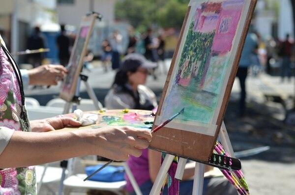 Los artistas de Plein Air Costa Rica trabajarán su arte al aire libre. Melissa Rojas / Archivo.