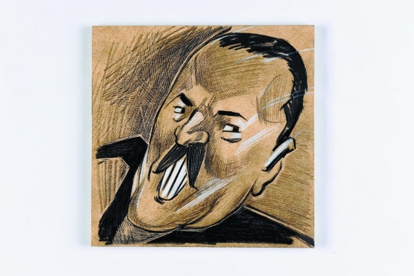 Daniel Rabinovich, comediante, músico, escritor argentino y cofundador de Les Luthiers. Ilustración de Daniel Solano.