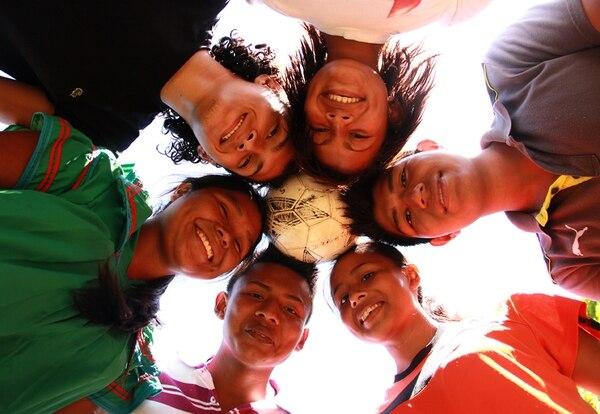 Los jóvenes entrenan una vez al mes en diferentes partes del país. En febrero, llegaron a La Sabana. | FOTO: ANEL KENJEKEEVA