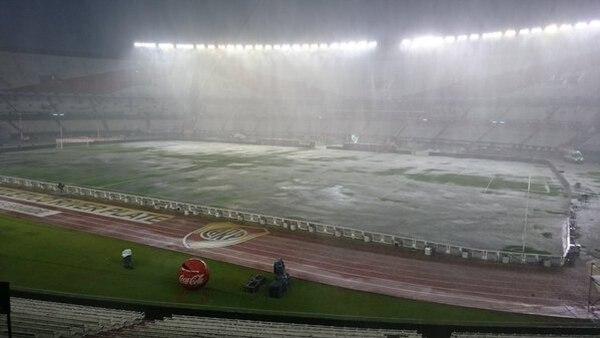 Así luce el Estadio Momumental sede del Argentina-Brasil.