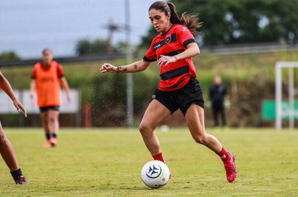 Priscila Chinchilla ha anotado en los dos partidos disputados por la Liga en este Torneo 2020. Fotografía: Rubén Murillo / Prensa Alajuelense