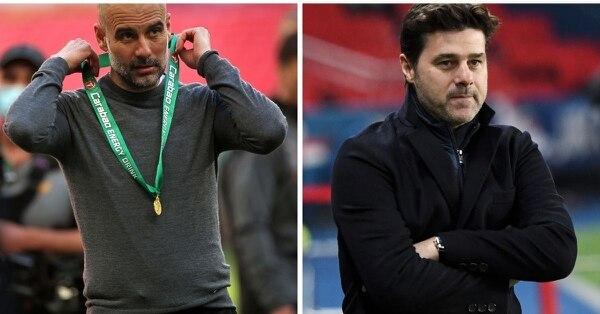 Pep Guardiola y Pochettino se toparán en las semifinales de la Liga de Campeones de Europa. Fotografía: AFP