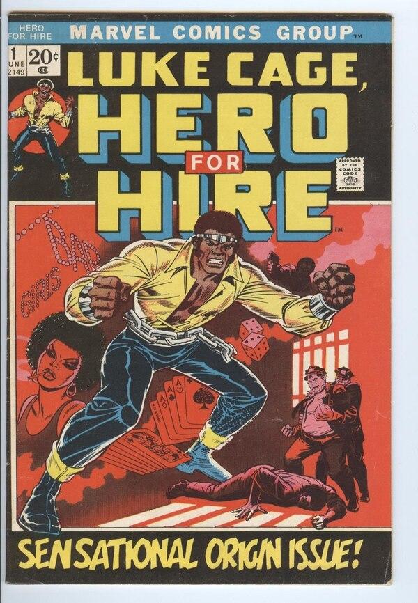 Luke Cage debutó en el universo de Marvel en 1972. Fue el primer súper héroe afroamericano en tener una saga de cómics.