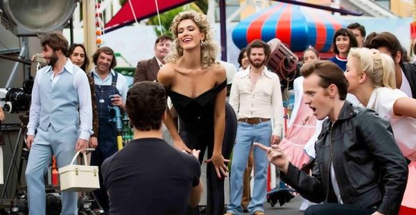 Delta Goodrem es australiana, al igual que Olivia Newton John. Las vueltas de la vida fueron haciendo que ambas actrices coincidieran hasta que Goodrem fue elegida para encarnar a Newton John. Foto FB Lifetime