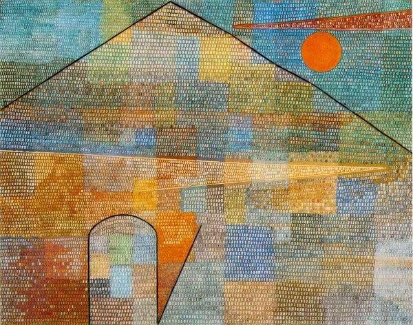 Ad Parnassum es una pintura puntillista del artista suizo Paul Klee / Año: 1932 / Técnica: óleo sobre lienzo / Locación: Kunstmuseum, Bern, Suiza.