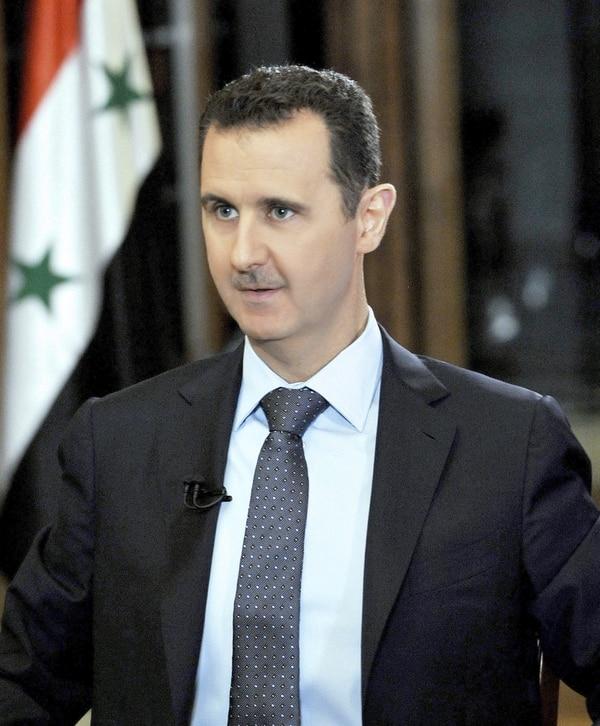 Bachar al Asad dice que respetará acuerdos. Foto tomada este jueves durante una entrevista con la cadena de televisión Fox News en Damasco.
