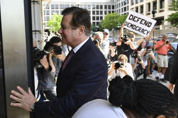 Paul Manafort llegaba a una audiencia en un tribunal federal en Washington, este viernes 15 de junio del 2018.