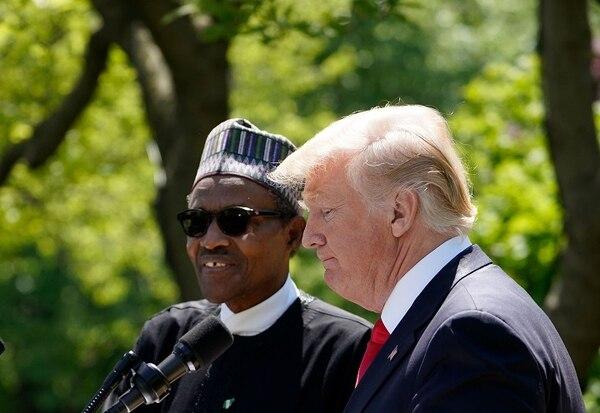 El presidente de Nigeria, Muhammadu Buhari, se reunió el lunes con Donald Trump para combatir a Boko Haram. (AFP)