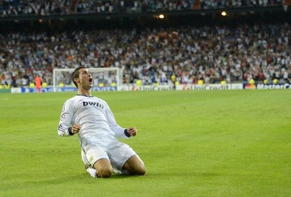 Cristiano le grita su gol a todo el Santiago Bernabéu. Fue el 3-2 para los blancos y la redención del portugués y su club. | AFP