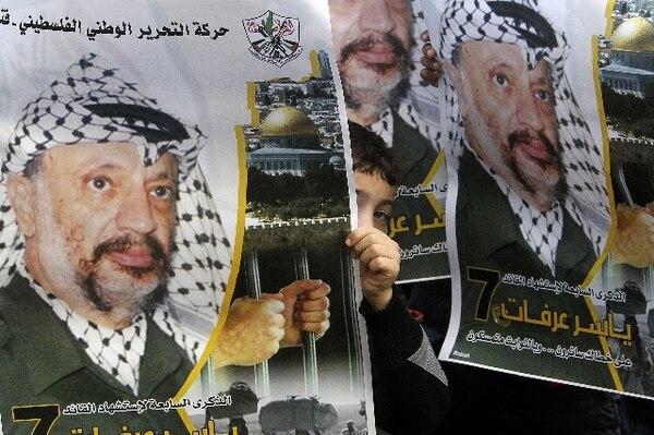 El mausoleo de Arafat estaba oculto por grandes toldos al igual que la entrada de la Muqata, la sede de la presidencia de la Autoridad Palestina. | AFP.