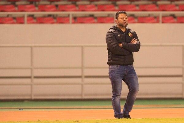 Jafet Soto, técnico del Herediano. Foto: Rafael Pacheco