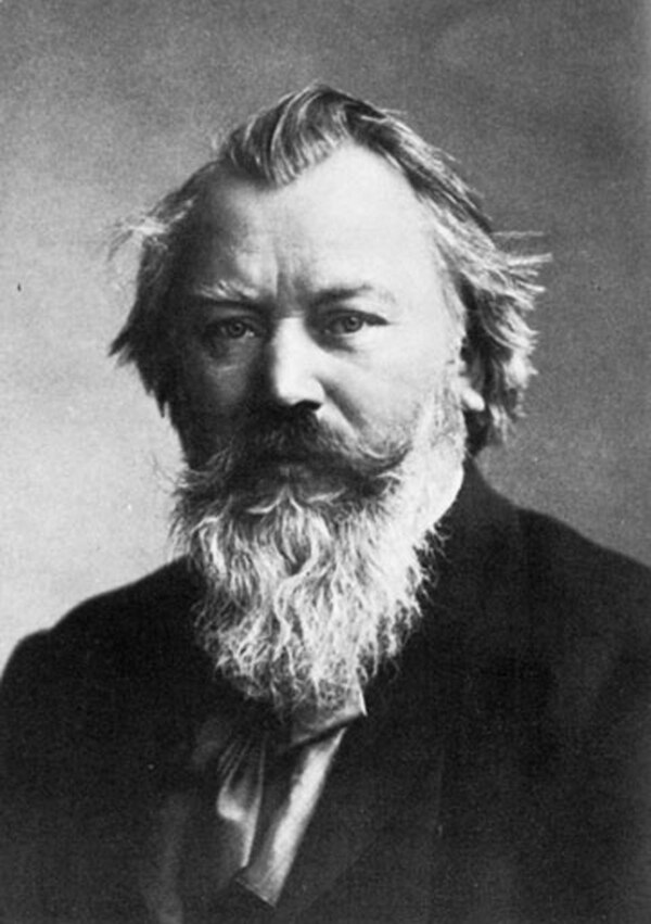 Un retrato de 1881 de Johannes Brahms, quien vivió entre 1833 y 1897. Foto: Wikimedia Commons.