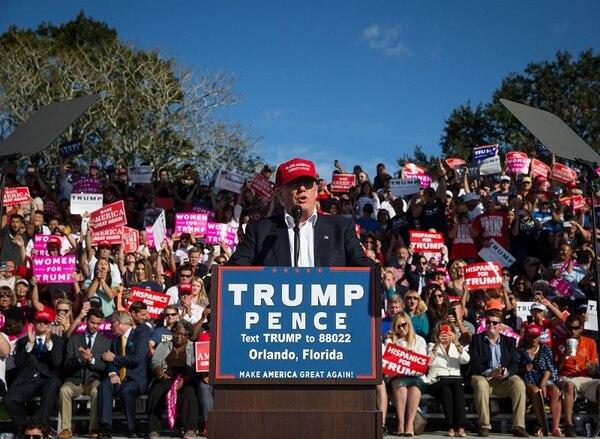 Donald Trump, aspirante presidencial republicano, llevó el miércoles su mensaje electoral a Orlando, Florida.
