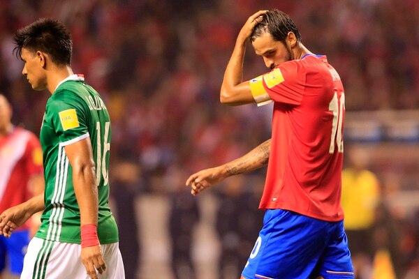 El último partido disputado por Bryan Ruiz fue el pasado 5 de setiembre ante México y el próximo sería hasta el 6 de octubre contra Honduras.