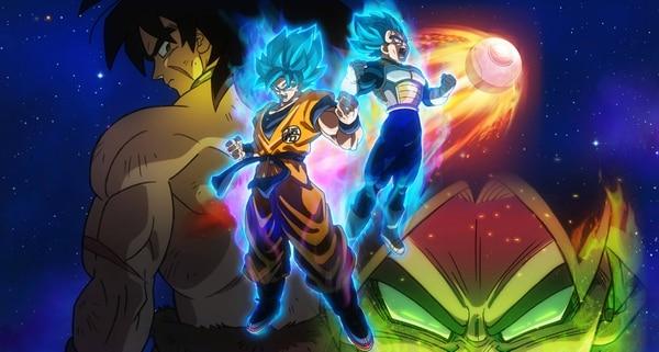 Gokú y Vegeta, dos grandes de Dragon Ball son protagonistas de la nueva cinta. Cortesía de Discine.