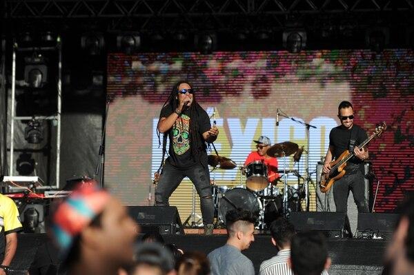 03/03/2018. La Uruca, Parque de Diversiones. Este sábado se realizó el Festival Grito Latino, con la presencia de bandas nacionales e internacionales. En la foto Los Afrobrothers. Fotos Melissa Fernández