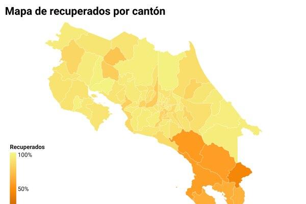 Mapa de recuperados al 16 de abril