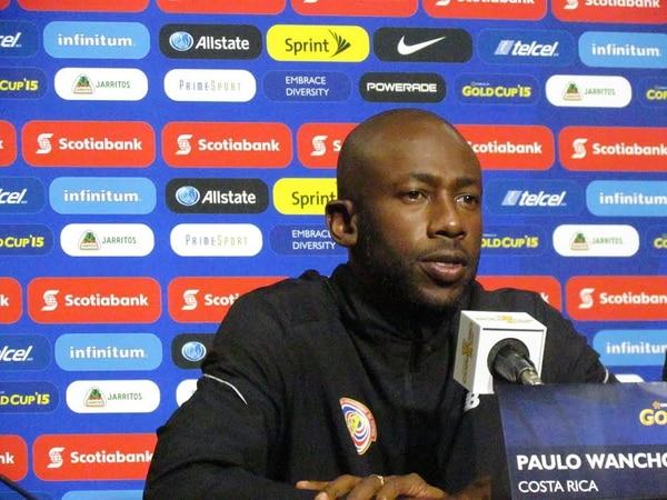 El técnico Paulo Wanchope dio hoy conferencia de prensa antes del juego ante El Salvador.