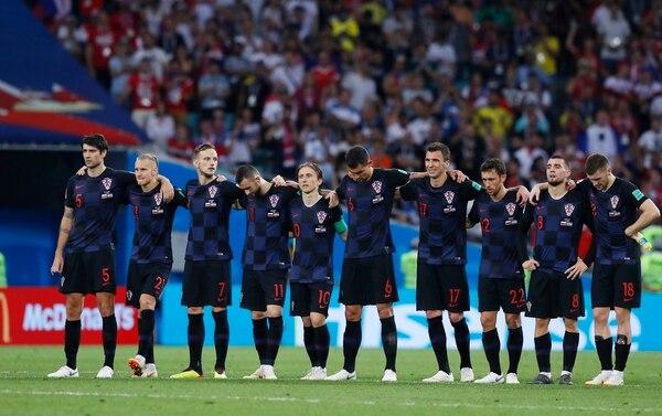 Los jugadores de Croacia dejaron en evidencia la tensión que vivieron nuevamente para meterse a las semifinales de Rusia 2018. Foto: AP/Manu Fernandez