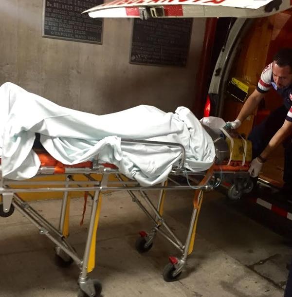 Chavarría ingresó en condición delicada al Hospital de Guápiles.