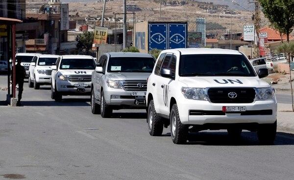 Expertos encargados de comprobar el arsenal químico del régimen de Bachar al-Asad entraron hoy en Siria.