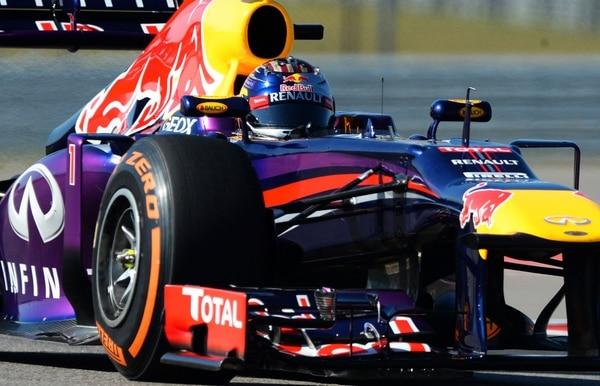Sebastian Vettel durante la sesión de prácticas previo al Gran Premio de Estados Unidos.
