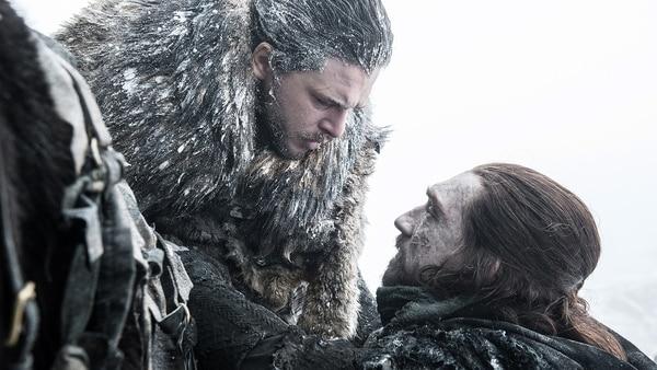Jon Snow (Kit Harington) y Benjen Stark (Joseph Mawle): hola y adiós.