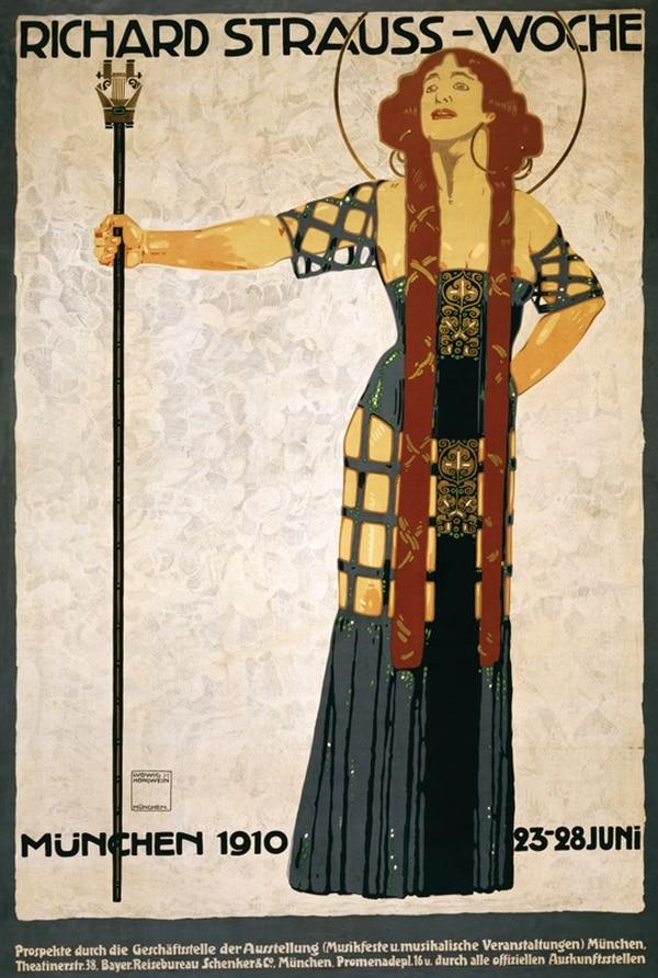 Afiche de la obra Salomé , para un montaje en Munich en 1910.