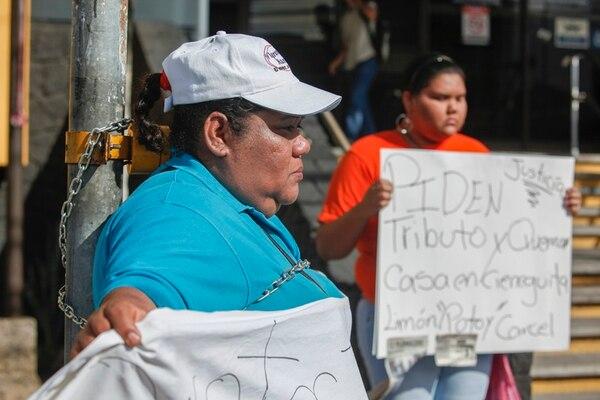 María Morales estuvo encadenada casi cinco horas en Goicoechea. Según la Fiscalía, tras agresiones que ocurrieron contra la mujer, ella estuvo en el Programa de Protección a Víctimas, pero lo abandonó. | JORGE ARCE.