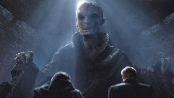 Snoke es interpretado por el actor británico Andy Serkis